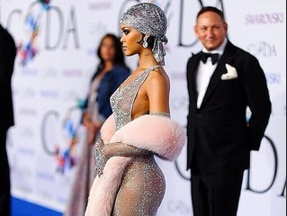 Rihanna Shows Her Ass and Titties at Fashion Award Show